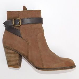"Franco Sarto ""Danela""Light  Brown Suede Ankle Boot"